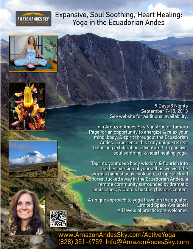 Tamara Page - Yoga in the Ecuadorian Andes
