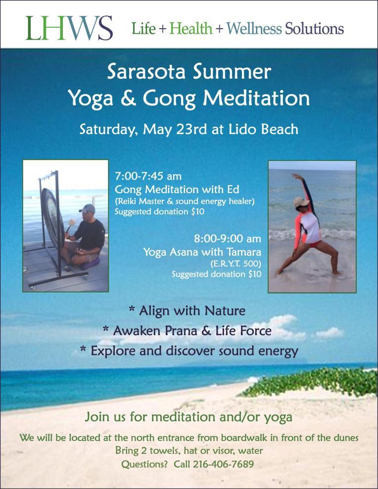 Sarasota Summer Yoga Gong Meditation - May 23 2015